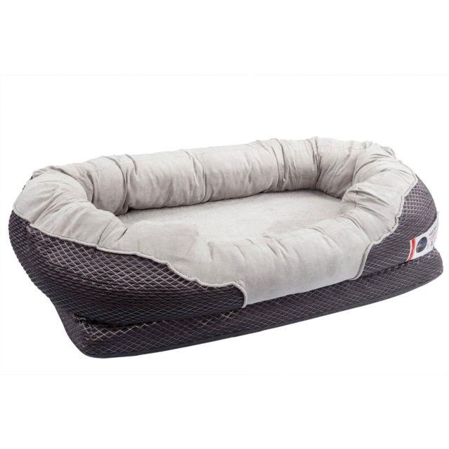 BarksBar Gray Orthopedic Foam Snuggly Sleeper Dog Bed