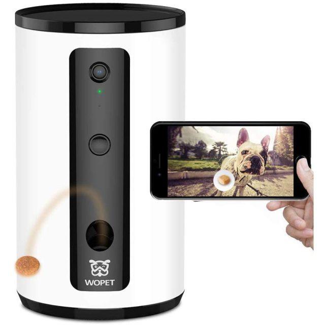 Wopet Smart Wi-Fi Treat Dispenser Dog Camera